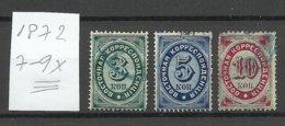 RUSSLAND RUSSIA 1872 Levant Levante Michel 7 - 9 X O - Levant