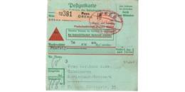 Allemagne  - Colis Postal  Départ Rees  -  30/1/1943 - Allemagne