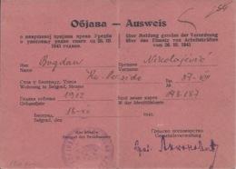 Document DO000155 - Yugoslavia Serbia Belgrade WW2 Fascism Nazism Document 1943 - Documents Historiques