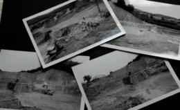 4 PHOTOS MINE CARRIERE FLUORINE SAINT PRIX Saône-et-Loire 1977 - France