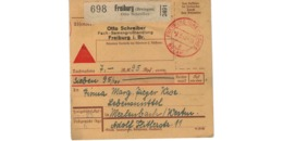 Allemagne  - Colis Postal  Départ Freiburg -- 2/2/1943 - Allemagne