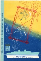 Paquebot Homeric 1960 - 3 Programme Du Jour - Today's Event - 3 Exemplaires Différents - 25 X 16 Cm - Bateaux