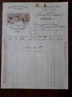 L24/7 Ancienne Facture. St Amour. Marcel Tissier. Vins Et Spiritueux. 1901 - France