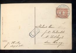Santpoort - Station 3 - Langebalk - 1915 - Marcophilie