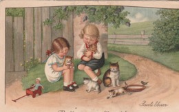Enfants, Attendris Devant Les Petits Chatons. - Ebner, Pauli