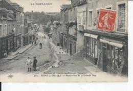 PONT D'OUILLY   Perspective De La Grande Rue 1914 - Pont D'Ouilly