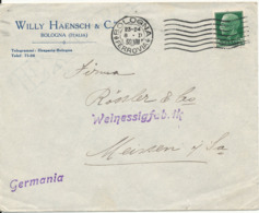 Italy Cover Sent To Germany Bologna 1930?? Single Franked - 1900-44 Vittorio Emanuele III