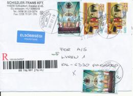 Hungary Registered Cover Sent To Denmark 19-7-2011 - Hungary