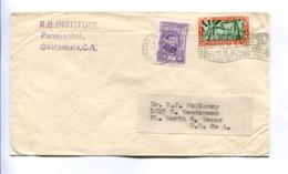 """COUNTRY OF ETERNAL SPRING"". ENVELOPE CIRCULATED - PANAJACHEL, GUATEMALA TO TEXAS, U.S.A.. YEAR 1954. -LILHU - Guatemala"
