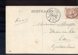 Middelburg Domburg III - Grootrond - Ede Langebalk - 1908 - Marcophilie