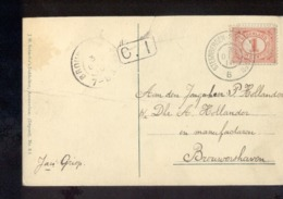 Steenbergen Brouwershaven - 1910 - Poststempel