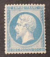 Napoléon III  N° 22 Neuf (*) Sans Gomme  TB - 1862 Napoleon III
