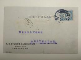 Nederlandse Perfin RSSZ In 53 Op Firmakaart - Plaatfouten En Curiosa