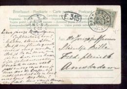 Bennebroek - Grootrond - 1909 - Poststempel