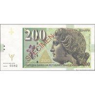 TWN - MACEDONIA (private Issue) - 200 Denari 2013 Dyonisos - Specimen 000000 UNC - Non Classificati