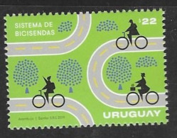 URUGUAY, 2019, MNH, BICYCLES, CYCLING, BIKE LANES, 1v - Cycling