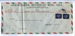 "ENVELOPE CIRCULATED - ""SOCIEDADES REUNIDAS REIS, LDA"" LISBOA PORTUGAL. TO WOLHUSEN, SUISSE. YEAR 1950 AIR MAIL. -LILHU - Poste Aérienne"