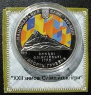Ukraine Silver Coin 22 XXII Winter Olympic Games In Sochi 10 UAH 2014 Proof - Ukraine