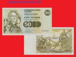 Scotland  50 Pounds 1981 - Billets