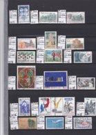 STOCK / COLLECTION TIMBRES FRANCE Oblitérés - 1985  à 0.05cent €  Pièce - REF MS  - SUR 2 PAGES Détachées - Timbres