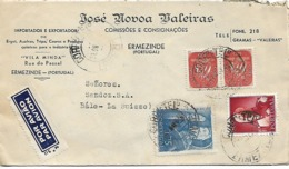 PORTUGAL 1948 COVER POSTED 4 STAMPS COVER USED - 1910-... Republic