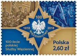 Poland Pologne 2019, 100th Anniversary Of The Polish Prison Service ** - Ungebraucht