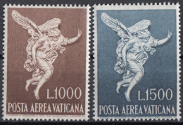 "Vaticano 1962 Uf. A45-A46 ""Arcangelo Gabriele"" Scultura Filippo Valle Full Set MNH Paintings - Escultura"