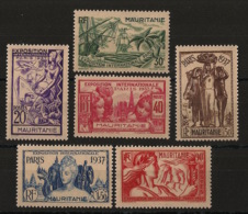 Mauritanie - 1937 - N°Yv. 66 à 71 - Exposition Internationale - Série Complète - Neuf * / MH VF - Unused Stamps