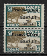 Wallis & Futuna 1941-43, France Libre, 5c Scott # 98 Pair ,VF MNH**OG (K-8) - Unclassified