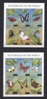 "SERRIA LEONE.....QUEEN ELIZABETH II.(1952-NOW).."" BUTTERFLIES.""...SET OF 12 IN 2 MINI SHEETS.......MH. - Papillons"