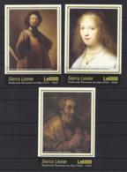 """SERRIA LEONE.....QUEEN ELIZABETH II.(1952-NOW).. """".ART..""""...REMBRANDT.......SET OF 3. MINI SHEETS......MH. - Rembrandt"""