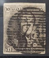 Belgique Belgïe COB 1 OBL P 73 Liège 4 Marges Cote 100 € - 1849 Schulterklappen