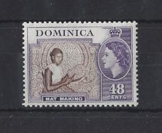 DOMINICA....QUEEN ELIZABETH II.(1952-NOW)...48c....SG155...MARK ON GUM.....(CAT £5.)...MNH.. - Dominica (...-1978)