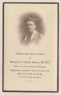 9AL1908 IMAGE RELIGIEUSE MORTUAIRE ABBE BUTET CURE ND DES BLANCS MANTEAUX 1927 2 SCANS - Imágenes Religiosas