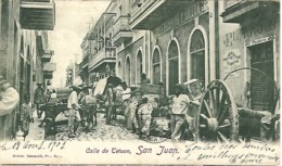 PUERTO RICO - Calle De Tetuan SAN JUAN 1902 - Superbly Animated & VG Postmarks Etc - Undivided Rear - Puerto Rico