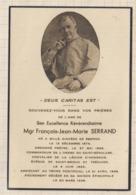 9AL1909 IMAGE RELIGIEUSE MORTUAIRE Mgr SERRAND SILLE SAINT BRIEUC TREGUIER 1923 2 SCANS - Devotion Images