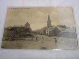 CPA - BIESMEREE ( METTET FOSSES FLORENNES ) - RUE DE L'EGLISE ( 1913 - PETITE ANIMATION ) - Mettet