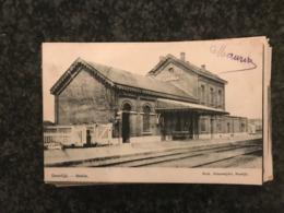Deerlijk  Statie Station Bahnhof Gare   -  Druk. Deleersnijder (gelopen In 1909 Naar Sweveghem) - Deerlijk