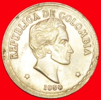 + BOLIVAR (1783-1830): COLOMBIA ★ 20 CENTAVOS 1959! LOW START ★ NO RESERVE! - Kolumbien