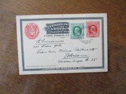1914 EMISSION DE MARZO DE 1912 CARTE TIMBRES 5 ET 10 CENTIMOS - Venezuela