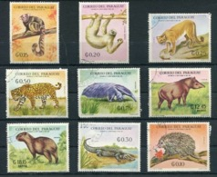 FAUNA - WILDLIFE - FAUNE. PARAGUAY YVERT 993/999 AEREO 551/552 MICHEL 1938/1946 COMPLETE SET OBLITERATED - LILHU - Reptiles & Amphibians
