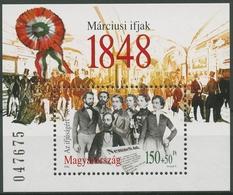 Ungarn 1998 Märzrevolution 1848 Block 244 Postfrisch (C92688) - Hojas Bloque