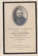 9AL1914 IMAGE RELIGIEUSE MORTUAIRE RECTEUR DE GAUSSON OLLIVIER MONCONTOUR 1932 2 SCANS - Imágenes Religiosas