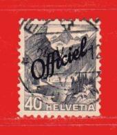 Svizzera ° - 1942 -  PAYSAGES . OFFICIEL - Zum. 54 / Mi. 54 / Unif. 193.  Usato - Servizio