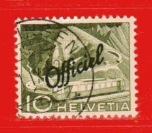 Svizzera ° - 1950 -  TECHNIQUE Et PAYSAGES . OFFICIEL - Zum. 66 / Mi. 65 / Unif. 286.  Usato - Servizio
