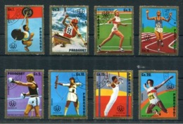 OLIMPIADAS MONTREAL OLYMPIC - PARAGUAY AÑO 1975 YVERT TELLIER 1430/1434 AEREO 705/707 COMPLETE SERIES OBLITERES -LILHU - Jumping