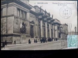 CARTE POSTALE _ CPA VINTAGE : BELGIQUE _ BRUXELLES _ Musées Royaux De Peinture & De Sculpture _ 1912  // CPA.VIDAL.L7.10 - Musées