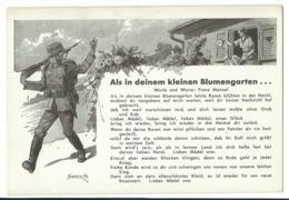 """Liedkarte """"Als In Deinem Kleinen Blumengarten...."""" Um 1940 - Guerra 1939-45"""