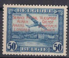 Belgium 1930 Airmail Philatelic Exposition, Anvers-Londres, Mint Hinged, Bicolour Gum - Belgien