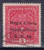 Italy Venezia Giulia 1918 Sassone#16 Used 3 Kronen - Venezia Giulia